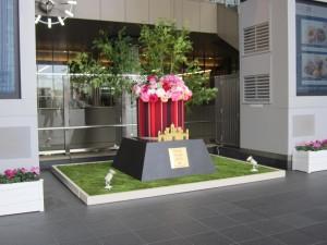 大阪駅2階アトリウム広場(正月装飾)